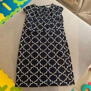 Charter Club Navy Blue Geo Print Dress Size 10P
